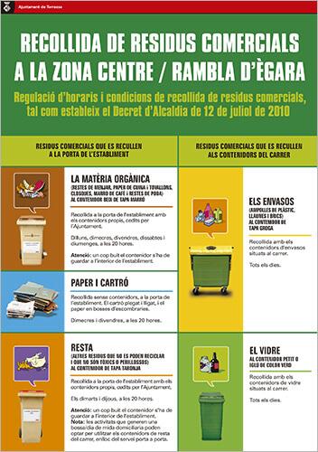 Recollida residus comercials zona Centre / Rambla